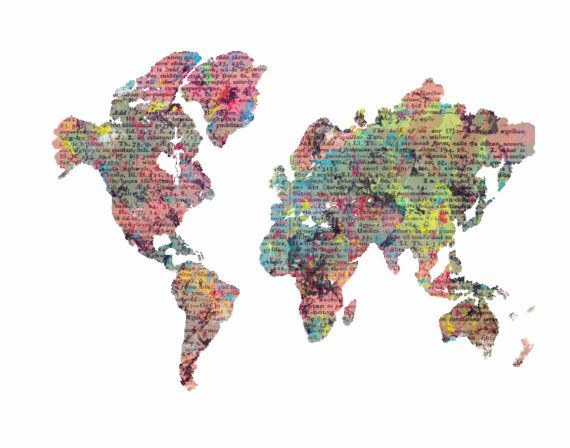 World Map,World map print,Room decor,Gift ideas,Wall prints,Map