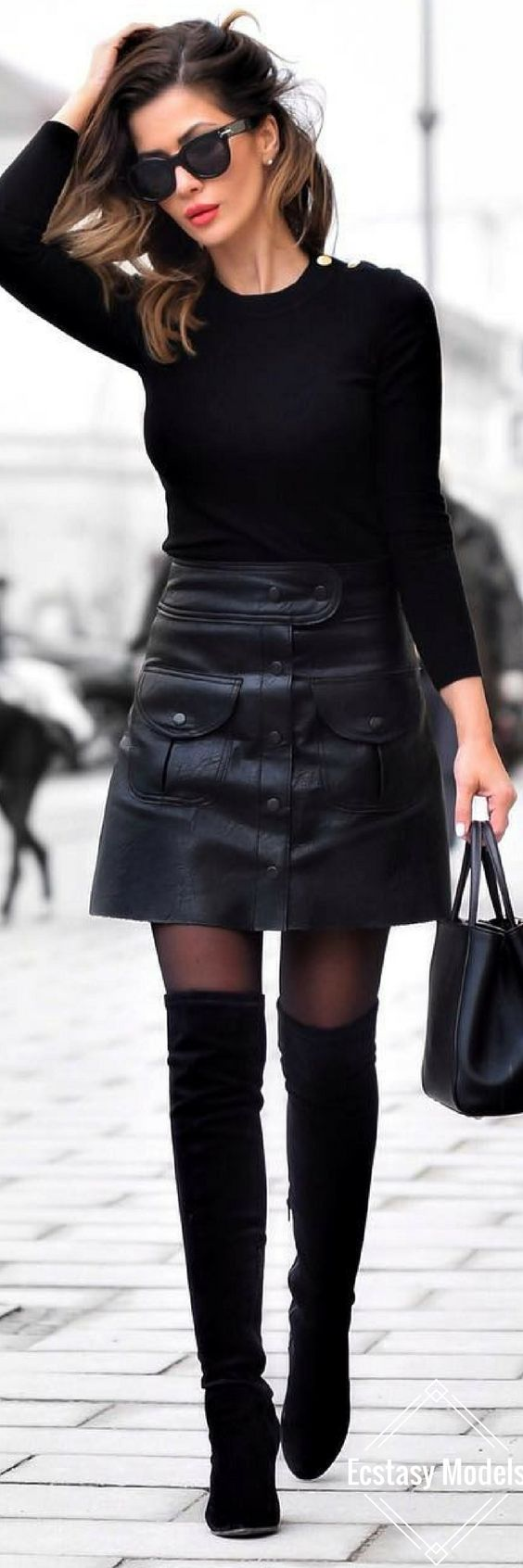 All Black Everything // Fashion Look by Short Stories & Skirts