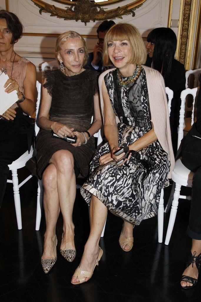 Front row at Valentino with Vogue Italia editor Franca Sozzani.