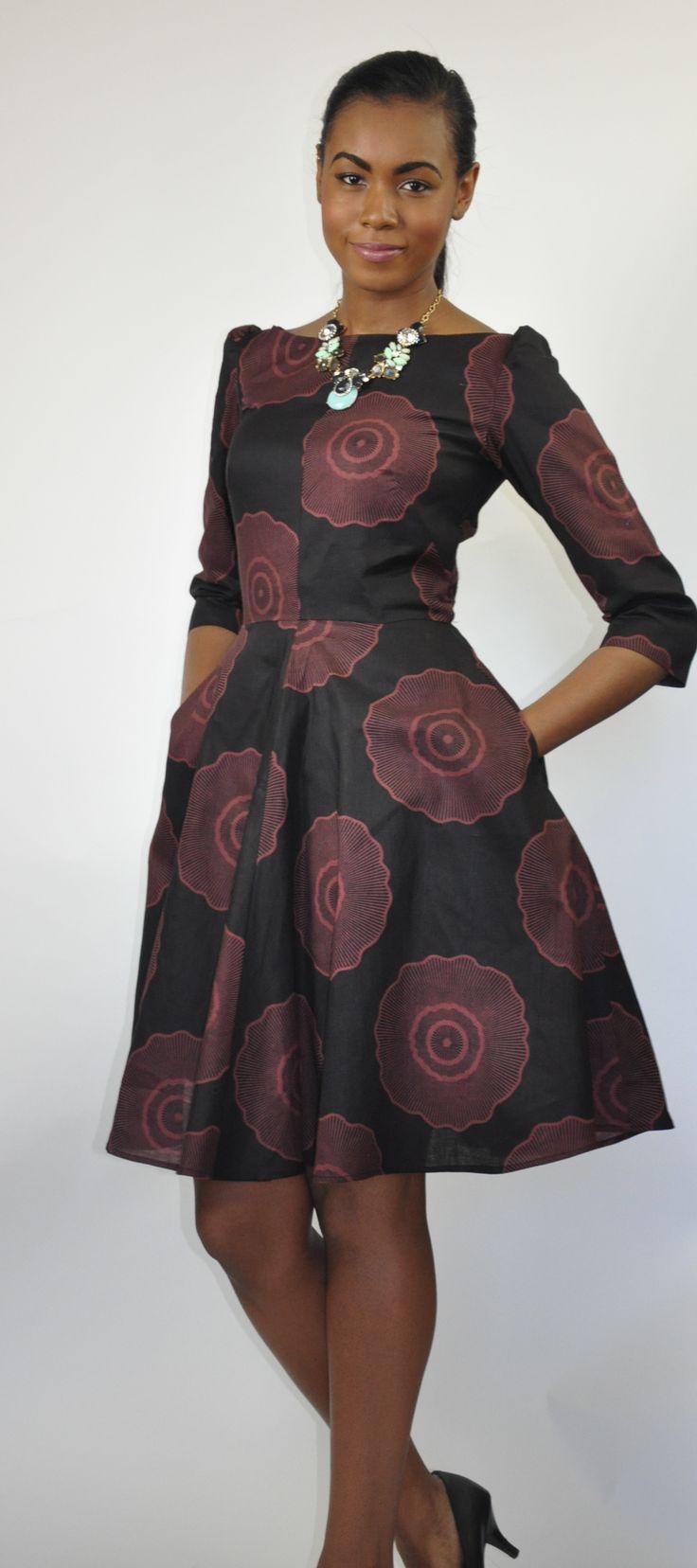 Jackie O Dress African Print Dress ~African fashion, Ankara, kitenge, African women dresses, African prints, African men's fashion, Nigerian style, Ghanaian fashion ~DKK