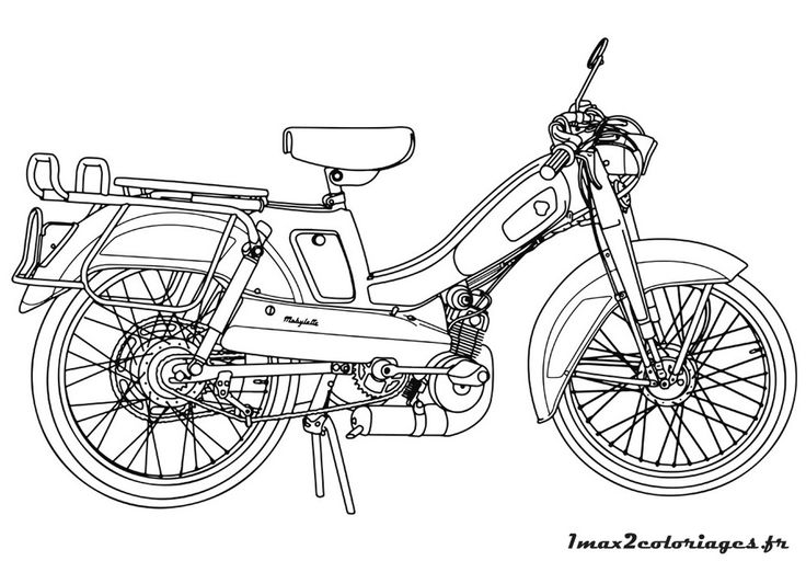 La mobylette bleue coloriage un max de coloriages for Garage moto courbevoie