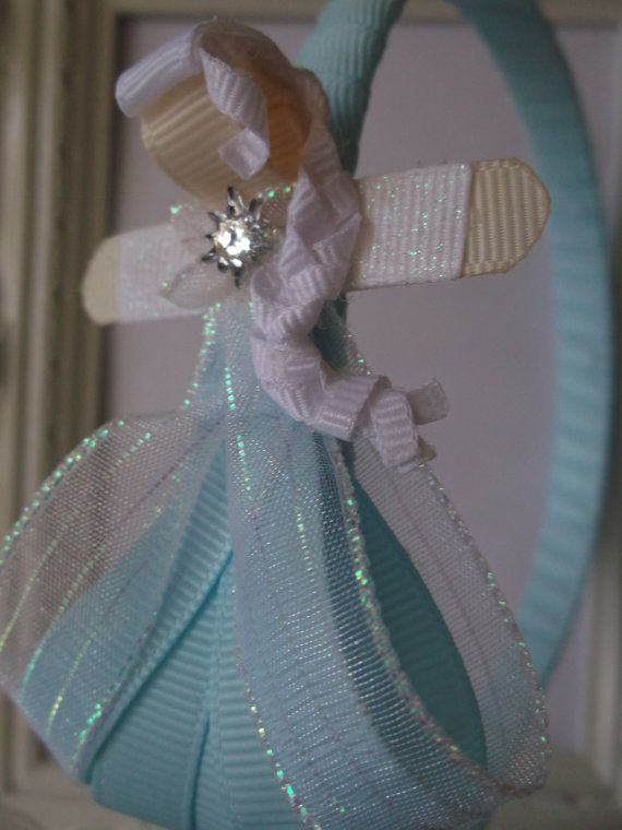 Elsa The Snow Queen Ribbon Sculpture Headband. by creationslove, $7.00