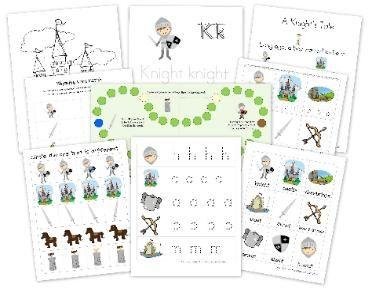 Knight Preschool Pack