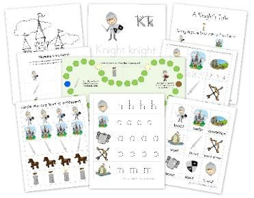 Knight Preschool Pack