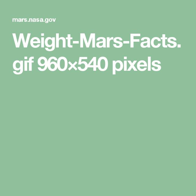 Weight-Mars-Facts.gif 960×540 pixels