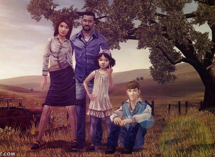 The Walking Dead (Telltele Game) Season 1 Ben, Clementine, Carley and Lee