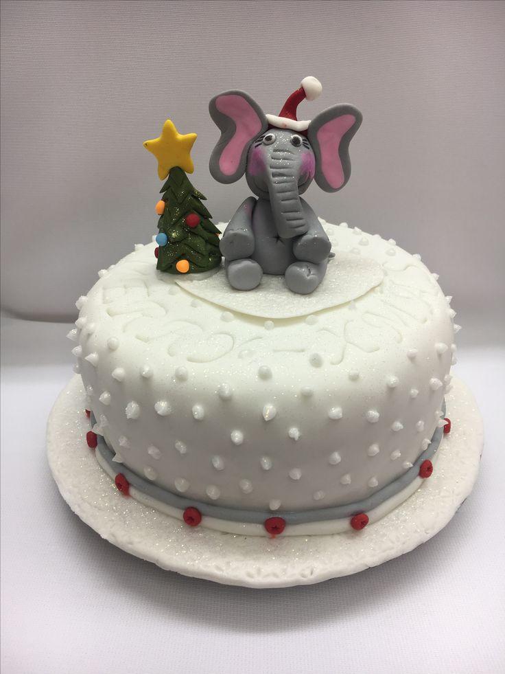 Elephant xmas cake