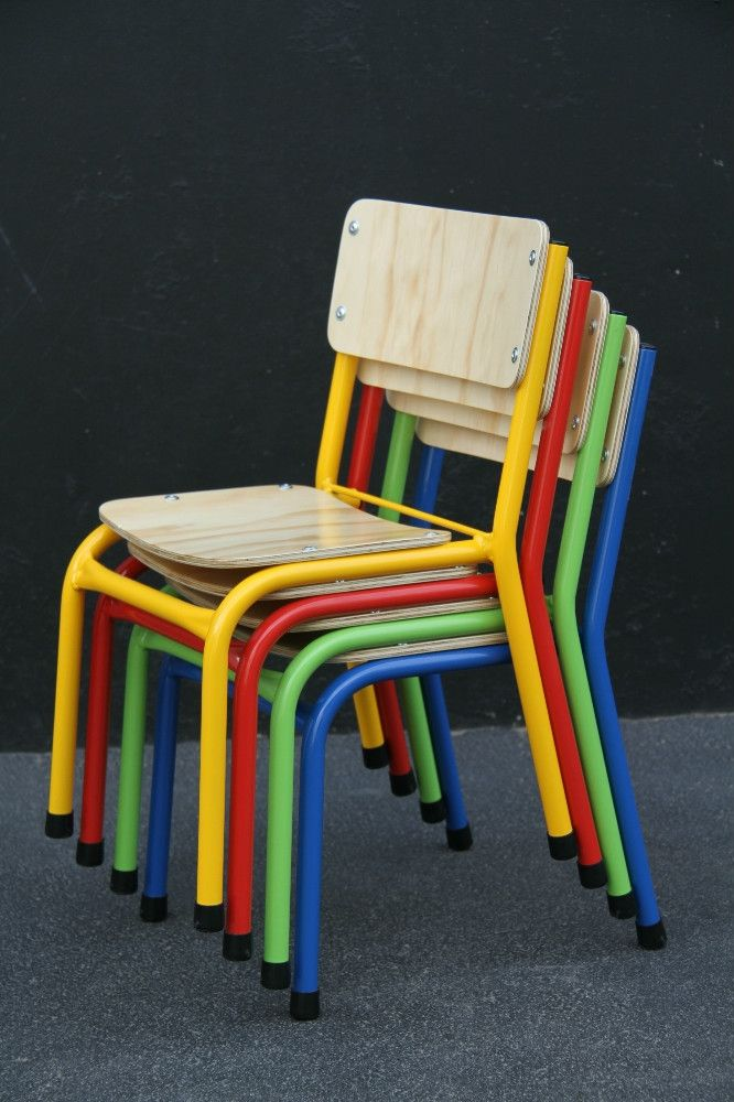 Stacking Chair (160)Standard 19mm Steel Frame with 8mm Ply Seat and Back.Powder Coated Steel Frame available in a variety of colours....