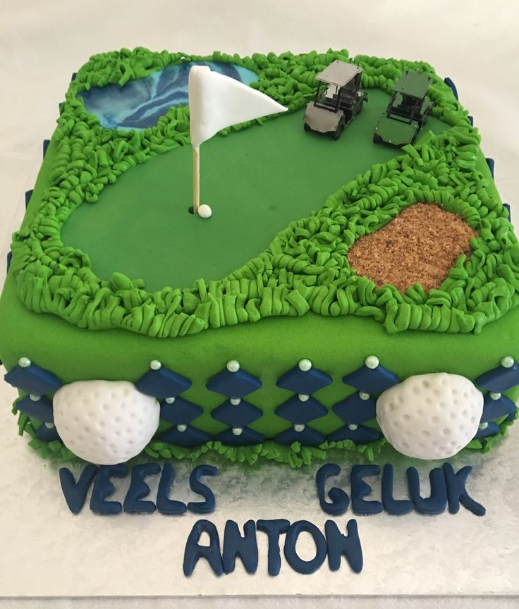 Golf themed cake. MadeByMe MadeWithLove 💙