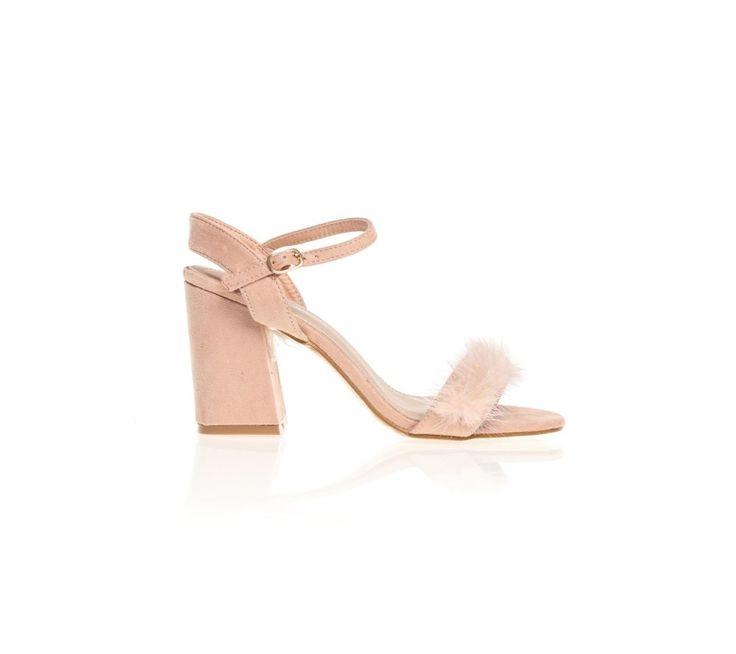 Remienkové topánky na podpätku, s umelou kožušinou | modino.sk #ModinoSK #modino_sk #modino_style #style #fashion #summer #swimsuit