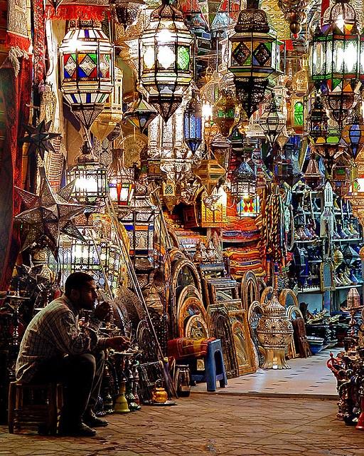 Marrakech Lights by John Overmeyer, via Flickr