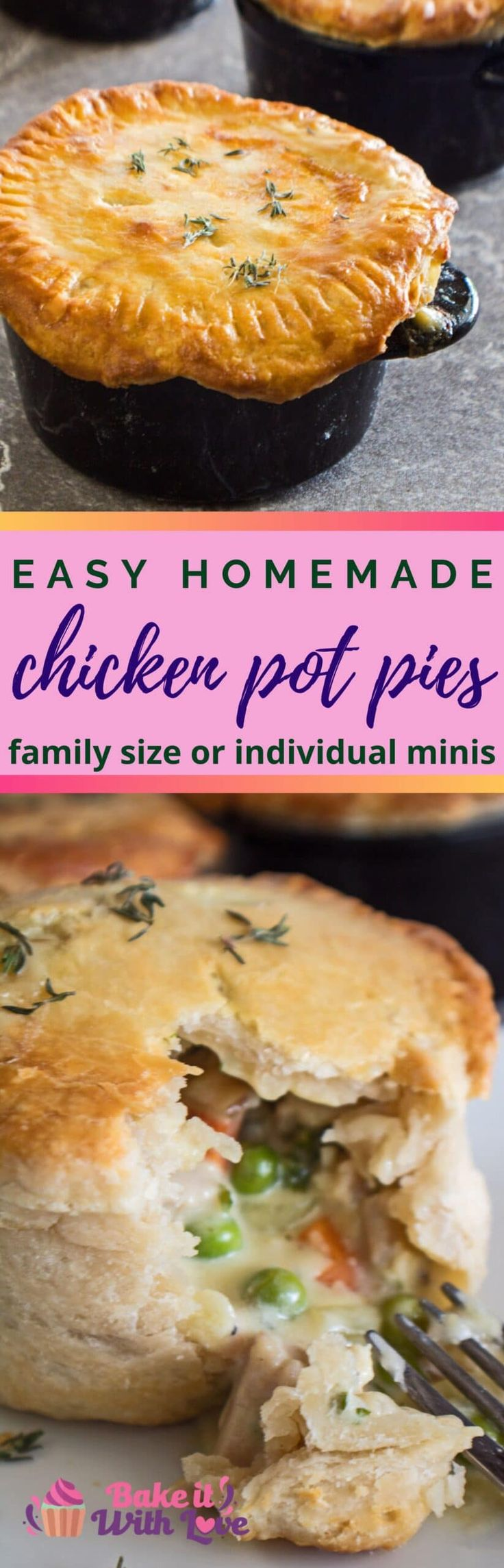 Jun 23, 2020 – The best easy, homemade Chicken Pot Pie recipe makes these perfect single serving individual double crust…