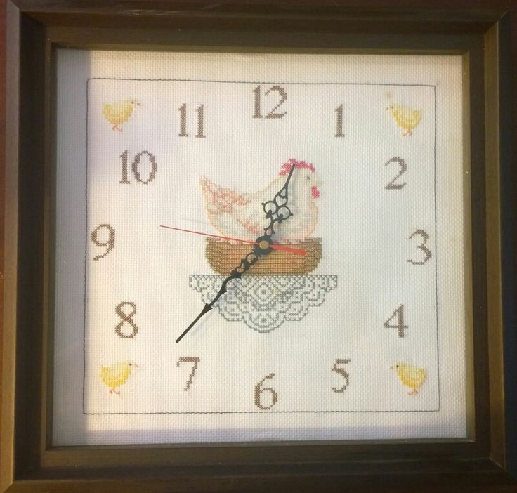Reloj de cocina a punto de cruz