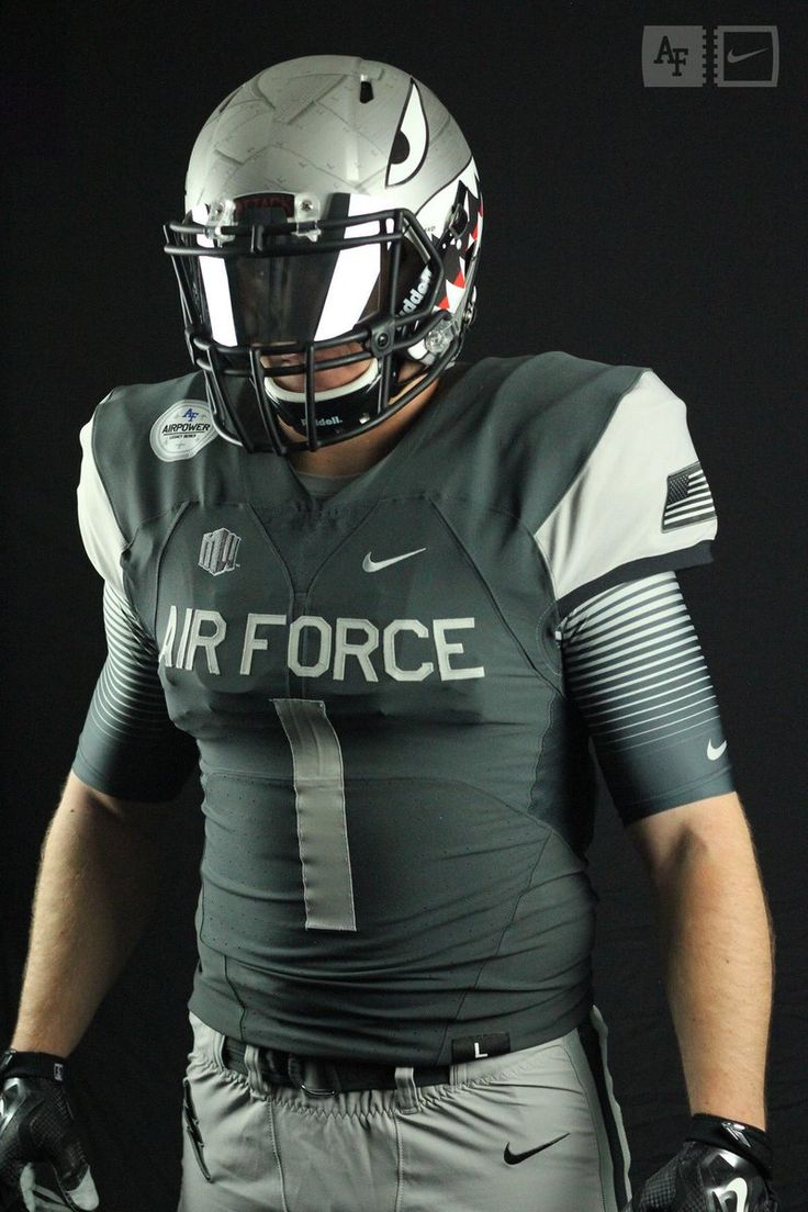 2016 U.S. Air Force Academy Falcons Airpower Legacy Series alternative football uniform with shark tooth helmet