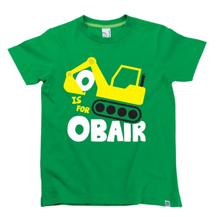 O is for Obair Kids Alphabet T-Shirt by Hairy Baby