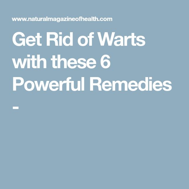 How To Treat Hand Warts Naturally
