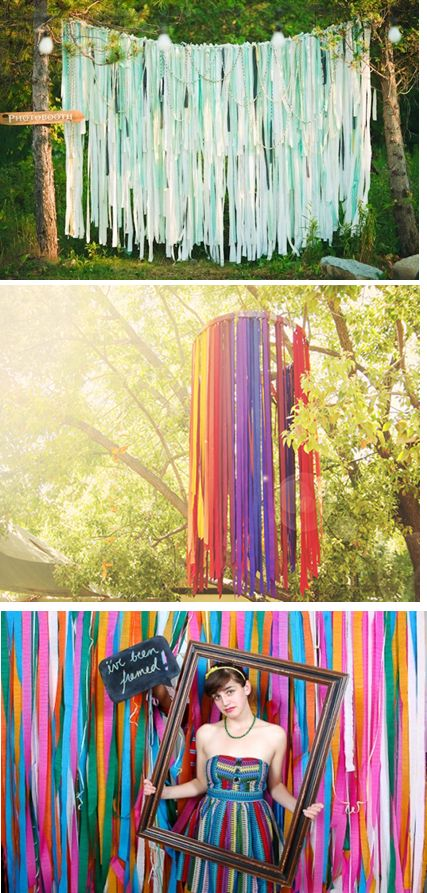 Cenário - Festa Franjinhas coloridas + molduras ♥