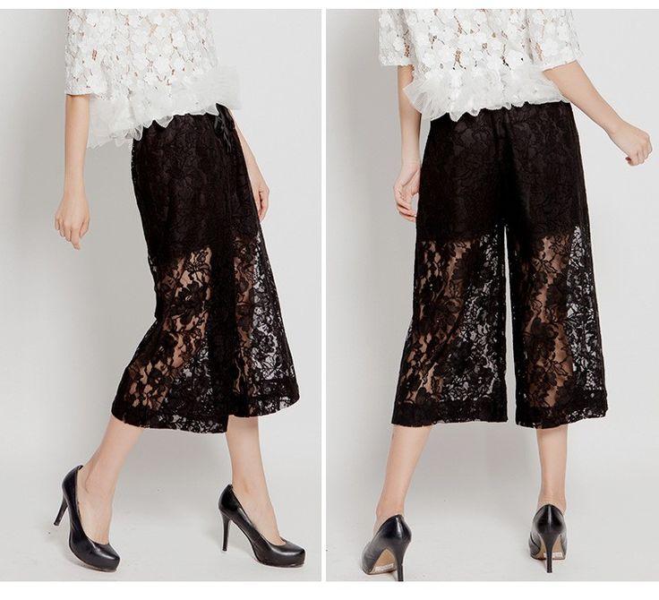 Новый Мода 2016 г. женские вязаные брюки повседневные свободные летние Высокая талия широкие брюки до середины икры Длина брюки C487 купить на AliExpress