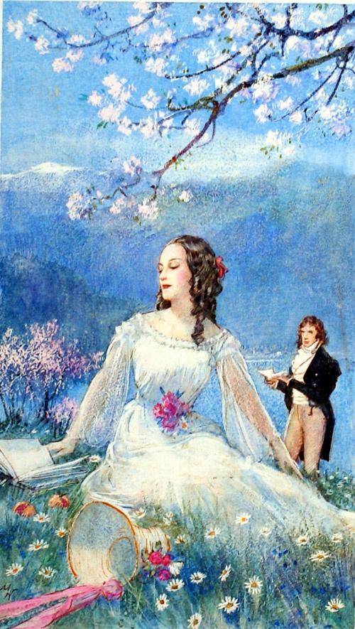 The Poet and his Mistress by John Millar Watt.