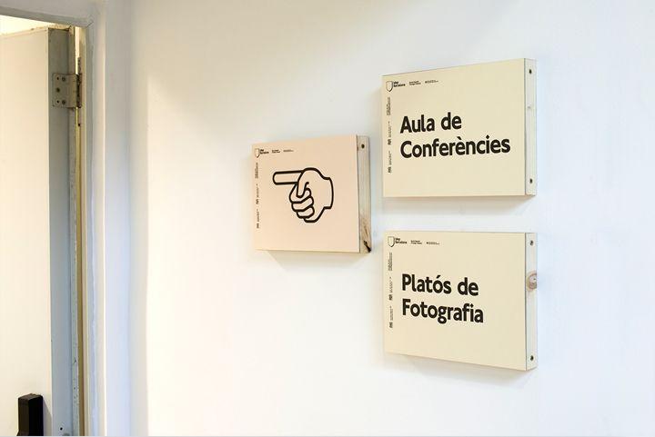 Señaletica IDEP Barcelona. By Querida