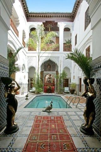Esprit du Maroc Riad en Marrakech (espíritu de Marruecos). Nombramiento muy adecuado. Decoración marroquí de lujo.