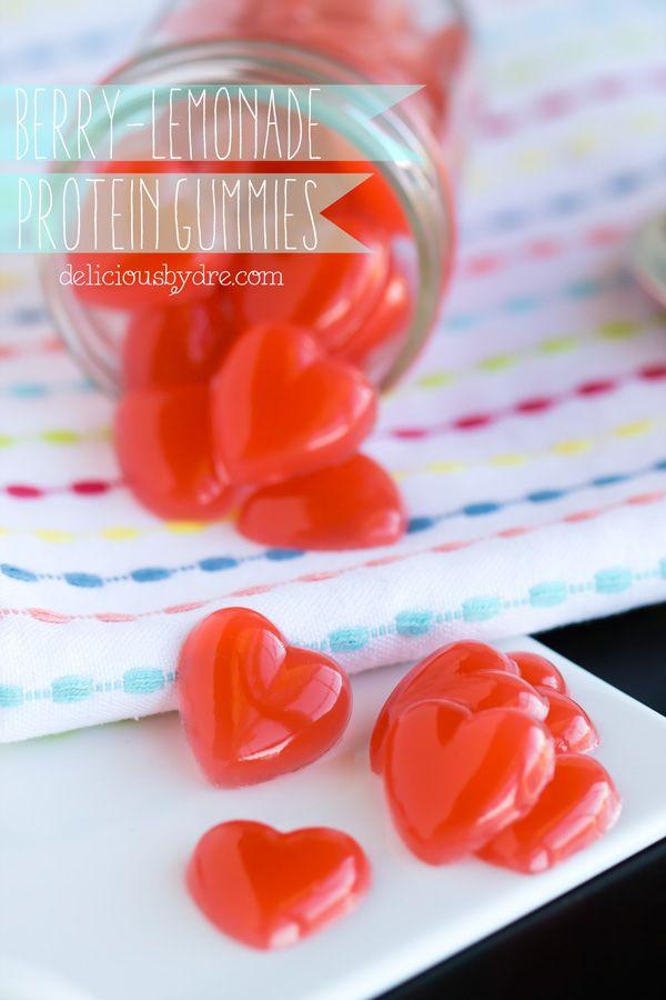 berry-lemonade protein gummies #healthy #diy #fruitsnacks