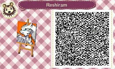 Reshiram Animal crossing qr, Animal crossing, Acnl paths
