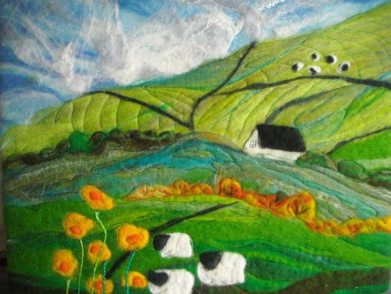 Felt Landscape Felt Painting Textile Art Landscapes