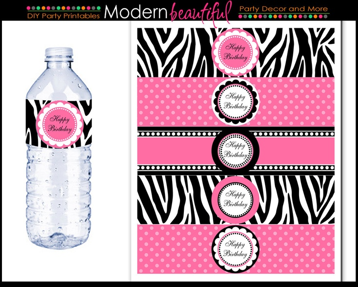 The Best Bottle Label Images On Pinterest Birthdays Happy B - Bachelorette water bottle label template