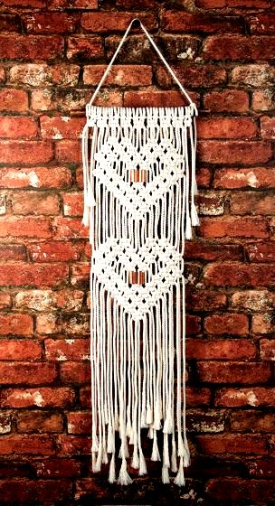 Add a touch of boho to your home with this modern wall hanging. Kit includes 90% cotton cord, natural branch hanging rod, accents & instructions to make as shown.