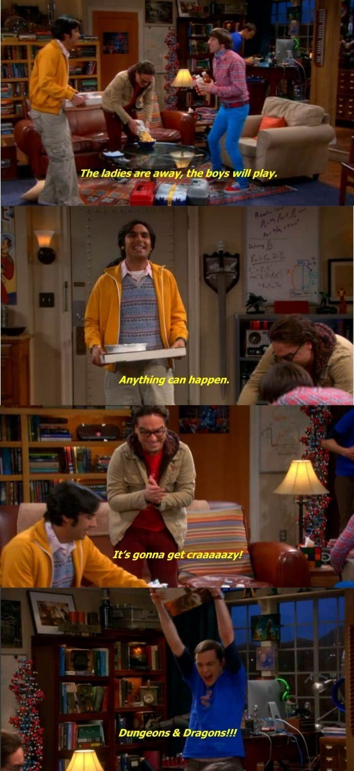 Dungeons and Dragons.  I <3 Sheldon. & Leonard. & Raj. & Howard.  Because how can you not love them?!