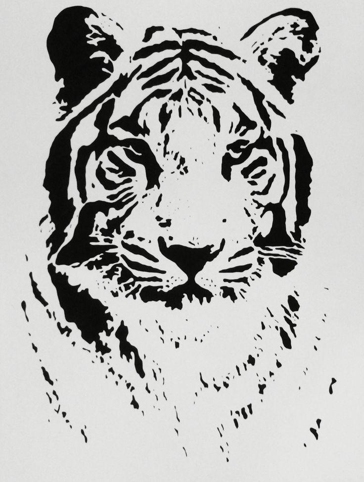 Bengal Tiger - handmade stencil ©
