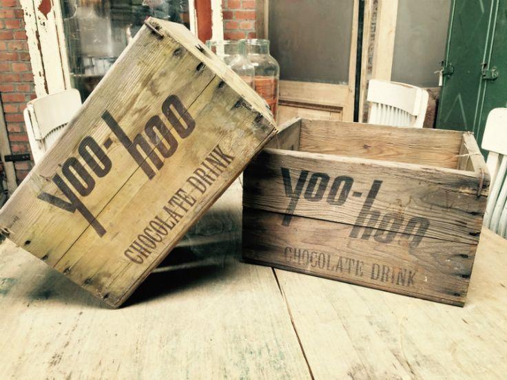 22,5 euro, 2 stuks? Oude houten kratten - Antieke, oude meubels - Collection - Benko oude antieke bouwmaterialen