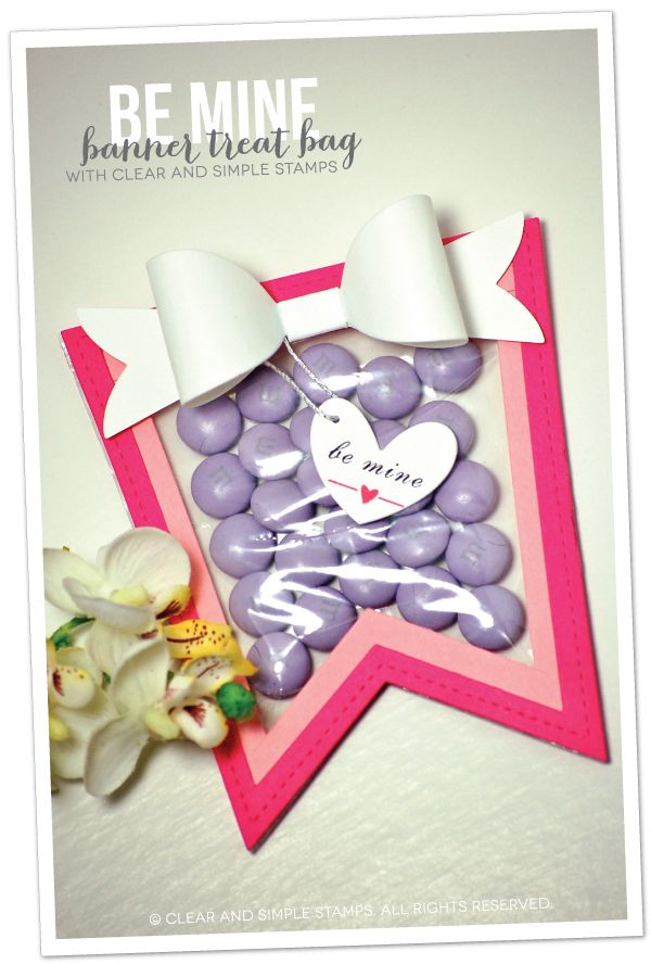 Be Mine Banner Treat Bag | Clear and Simple Stamps | how-to on blog | #csscreatewithlove