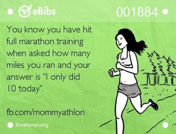 Running Matters #62: You know you have hit full marathon training when asked how many miles you ran and your answer is