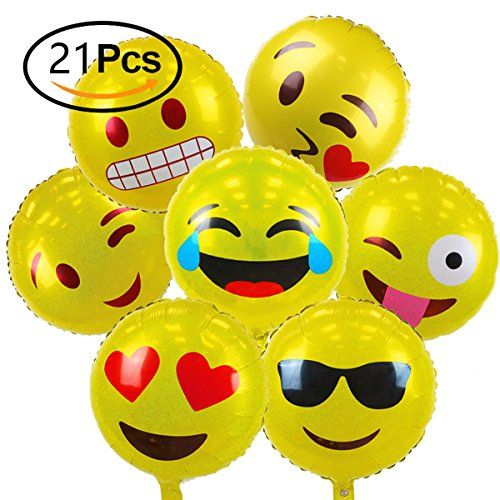 Size: Dimensions: 18inches Package Include: 21 * Emoji Balloon What are they made out of? Material: Mylar Item Features —These Emoji Mylar balloons are perfect for a birthday party, special occasion or just to make someone smile. —They are double-sides printing. They are 18 inches mylar balloons, 7 different emoji facial expressions designs. You get …