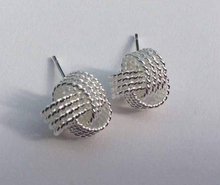 925 Sterling Silver Knot Stud Earrings #accessories #fashion #ladies #jewellery #quirky #925 #silver #sterling #sterlingsilver #earrings #studearrings #knot #rope #gift #present http://m.ebay.co.uk/itm/Free-Gift-Bag-925-Sterling-Silver-Rope-Knot-Stud-Earrings-Ladies-Jewellery-Xmas-/282070237767?nav=SELLING_ACTIVE