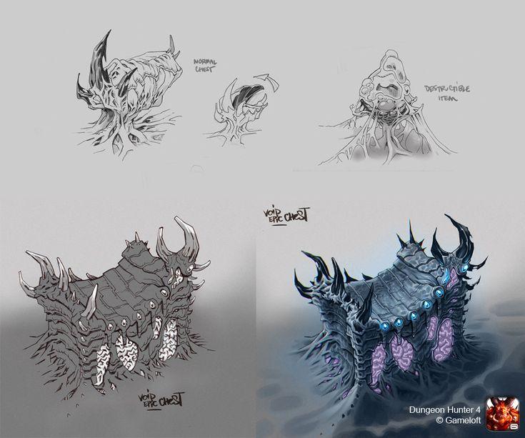 ArtStation - Chests design - Dungeon Hunter 4, Jocelyn Joret