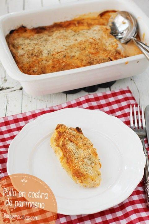 Pollo con costra parmesano