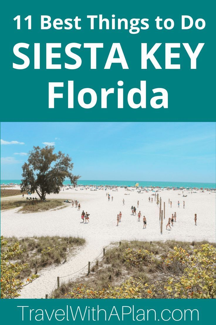 11 Best Things To Do In Siesta Key While On Vacation Travel With A Plan Siesta Key Florida Vacation Trips Best Family Vacation Spots