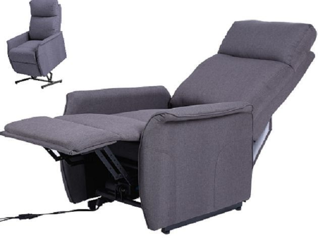 power lift chair recliner armchair seat gray footrest soft sofa chair furniture