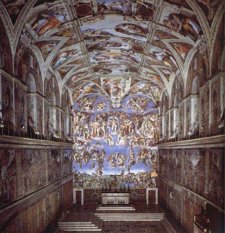 Michelangelo Works of Art Celing | Sixtijnse chapel with the ceiling painting Michelangelo Buonarroti ...