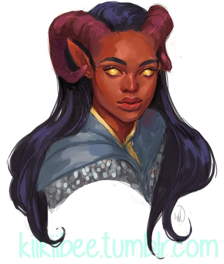 "kiikiibee: "" commission for @frillylittlecakes of her adorable Tiefling Cleric! """