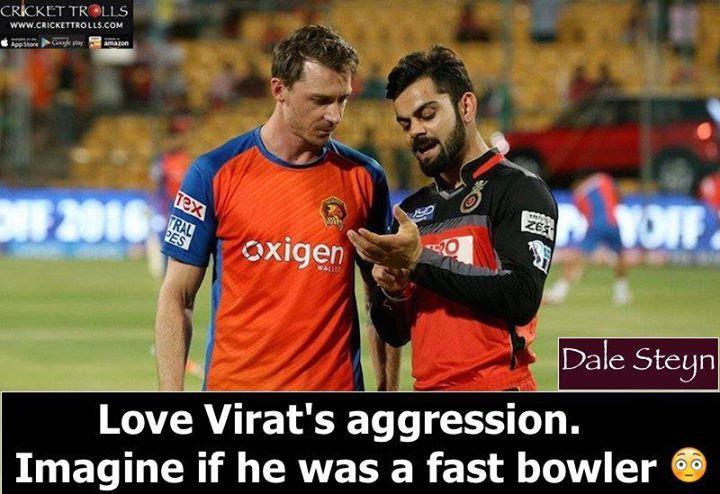 Dale Steyn loves Virat Kohli's aggression on the field! For more cricket fun click: http://ift.tt/2gY9BIZ - http://ift.tt/1ZZ3e4d