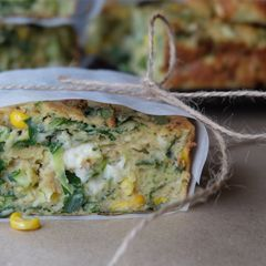 Veggie packed zucchini slice from Naturally Nutritious