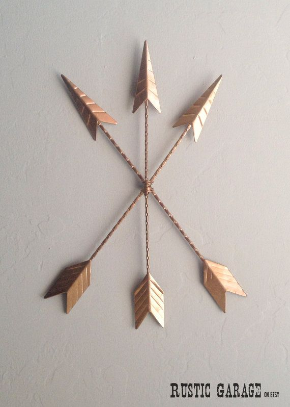 ARROWS Metallic Copper Cast Iron Metal Wall by RusticGarage