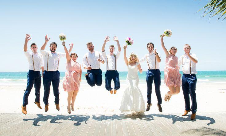 Cool wedding photos. Cassie and mark noosa beach