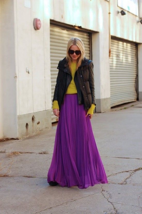 how to wear maxi skirts in winter fashion