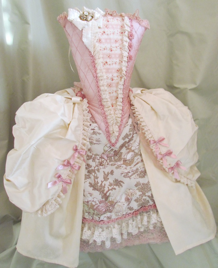 Darling Marie Antoinette Dress pillow via Angela Lace. Although a pillow...inspiration for costume :)
