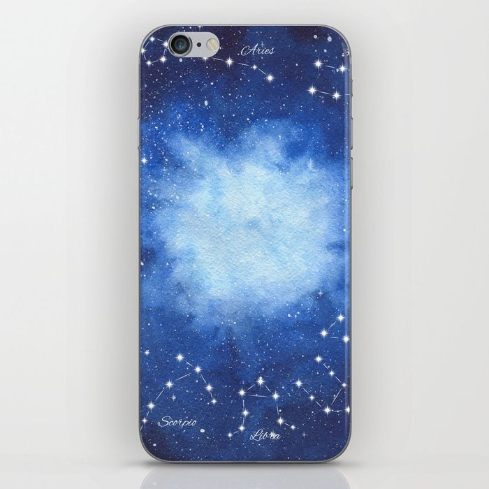 Cosmic Horoscope iPhone Skin #space #zodiac #signs #horoscope #universe #galaxy #nebula #stars #constellations #watercolor #painting #night #buy #buyonline #shopping #giftidea #present #cosmic #cosmos #society6 #iphonecase #cases #phonecase